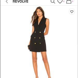 Black mini blazer style dress XXS